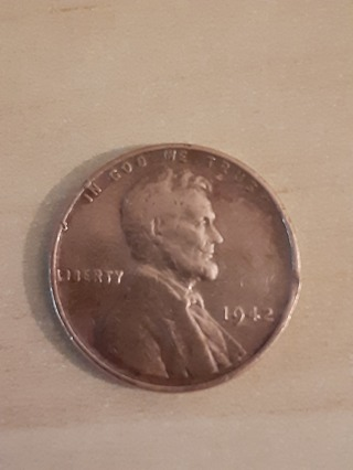 1942 Lincoln Wheat Penny In Protective Holder