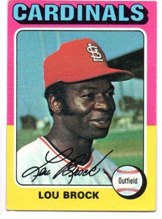 1975 Topps Lou Brock