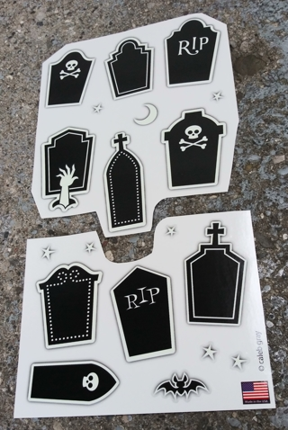 HALLOWEEN GLOW IN THE DARK STICKERS SELF STICK PEEL AND STICK LOT 2
