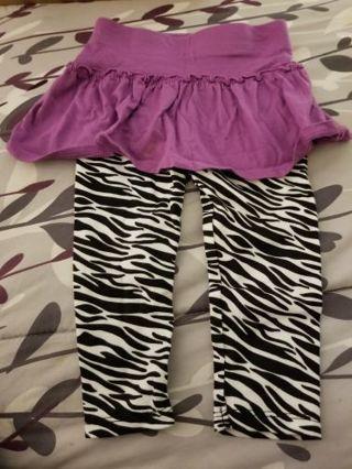 Cute zebra stretchie pants 12 mo .free shipping gin.