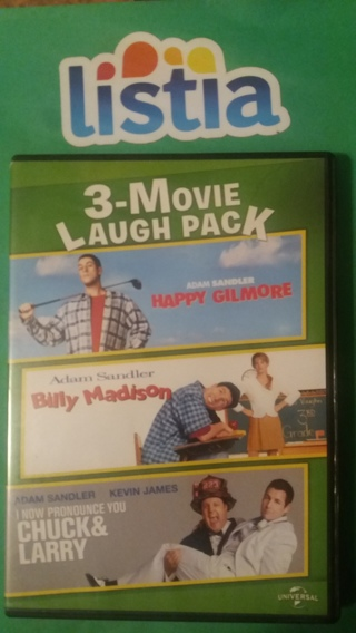 dvd 3-movie laugh pack adam sandler  free shipping