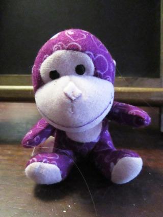 Little Purple Plush Monkey