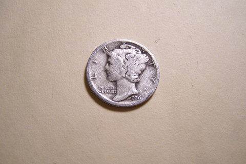 Silver 1926 Winged Liberty Head Mercury Dime