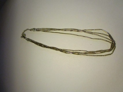 Liz Claiborne Triple Strand Necklace