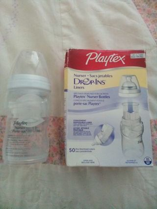 Playtex bottle with refill liners
