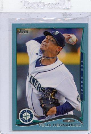 Felix Hernandez-Seattle Mariners 2014 Topps Wal-Mart Blue Bordered Card #401