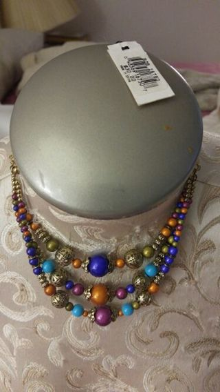 New Erica Lyons 3 tiered New necklace