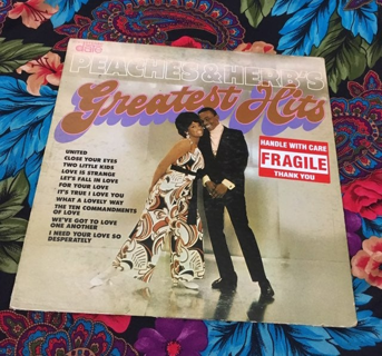 PEACHES AND HERB'S VINTAGE VINYL ALBUM RECORD DISK FREE SHIPPING