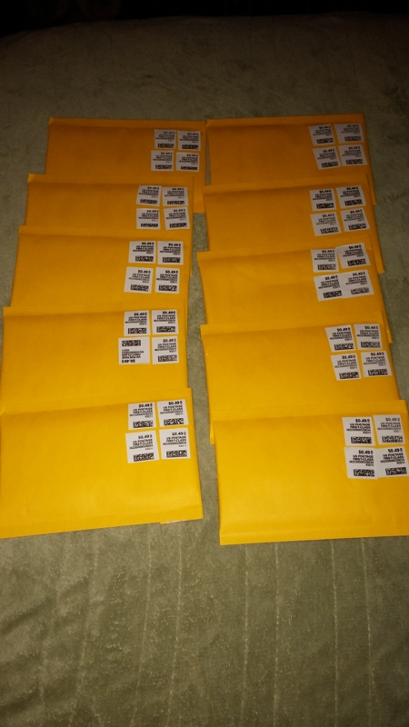 Free 5 Bubble Wrap Mailer Envelopes Stamped With Postage 12 Value Stamps Office Supplies Listia Auctions For Stuff