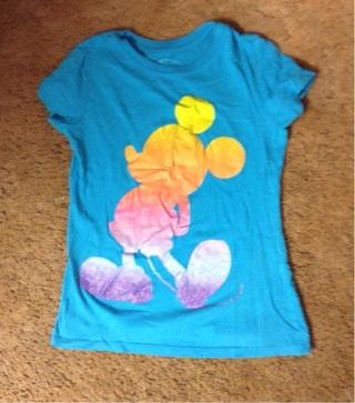 Girls Disney Mickey Mouse shirt size large
