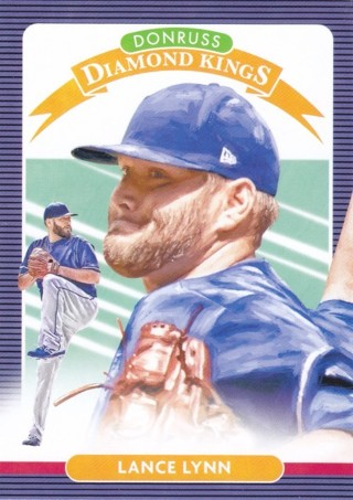 Lance Lynn 2020 Panini Donruss Diamond Kings Texas Rangers