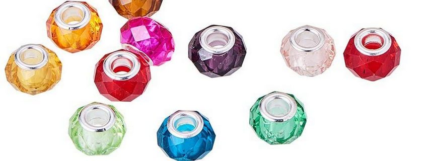10pc Euro Mixed Faceted Beads 4T (PLEASE READ DESCRIPTION)