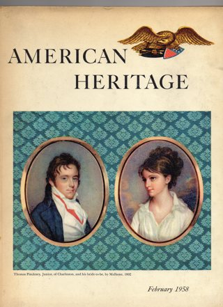 Vintage American Heritage Hard Covered Book: February 1958