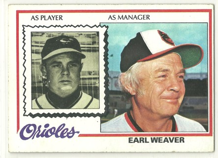Earl Weaver 1978 Topps #211 Baltimore Orioles