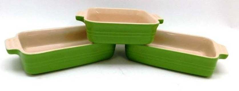 3 Apple Green LE CREUSET Baking Dishes