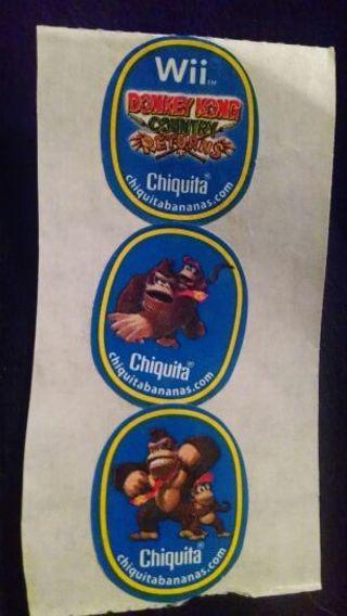 Donkey Kong Nintendo stickers