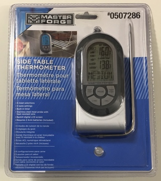 Master Forge Digital Probe Side Table Meat Thermometer - Brand New Sealed!