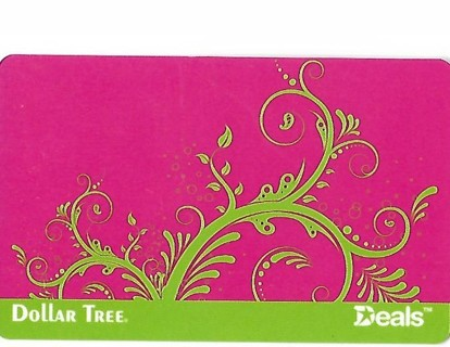 DOLLAR TREE GIFT CARD-$5.00 TO SPEND ON 5 ITEMS THERE!!! WITH RECEIPT!!! GIN!!!