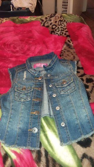 Girl jean vest size 5