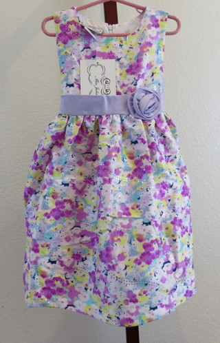 Little Girl Party Dress Size 6 Floral Design New with Tags