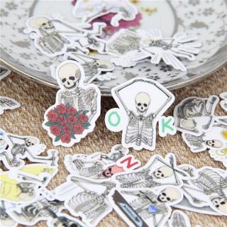 40 Pcs Funny skull expression Stickers for Fashion Laptop Snowboard Home Decor Car Styling Decal F