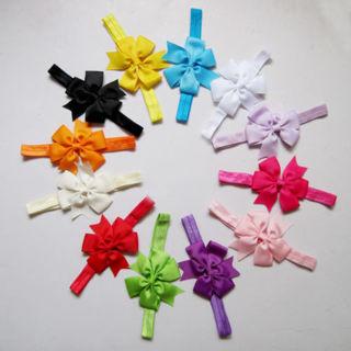 2x Kid Baby Toddler Cute Butterfly Headband Hair Bow Band Headwear Accessories