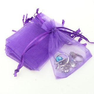 """4 rings in a NEw 6"""" X 4"""" ORGANZA BAG"""