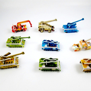 50PCs Paper Tank Engineering Vehicle Miniature 3D Model Puzzles Jigsaw Puzzle Toys