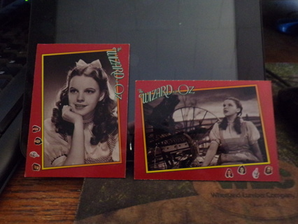 2 WIZARD OF OZ TRADING CARDS