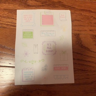 Sheet of planner stickers #8