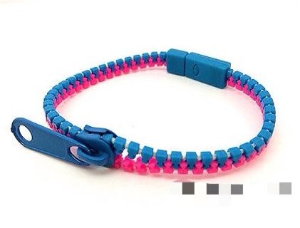 free new charm zip bracelet bangle zipper fluorescent rosy blue f37 bracelets. Black Bedroom Furniture Sets. Home Design Ideas