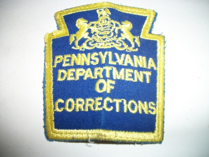 PA Dept of Corrections Old Vintage Pennsylvania Prison Jail Cloth Arm Patch Embroidered