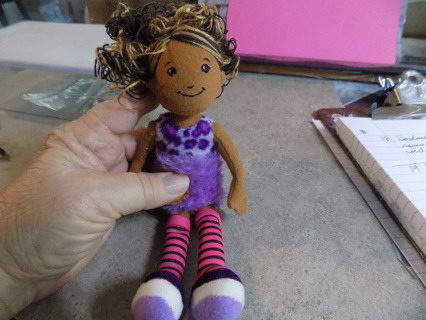 Groovy Girls all fabric doll  with 2 shades brown curly hair