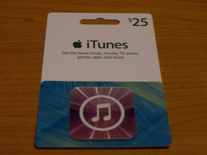 Free: iTunes Gift Card $ 25 00 - Gift Cards - Listia com Auctions