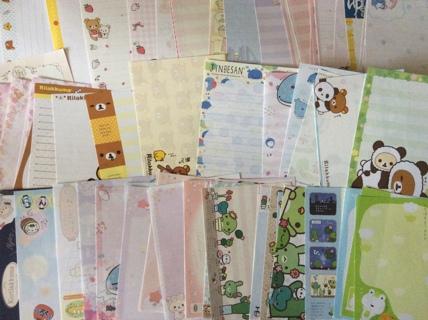 ☆ Huge Lot San-X Characters All Different Kawaii Large/Mini Memo Sheets & Stickers ☆ GIN Bonus ☆