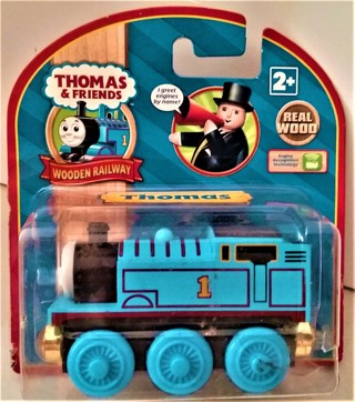 "2009 Thomas wooden locomotive with magnets - 3"" long - sealed/unused - NIP"