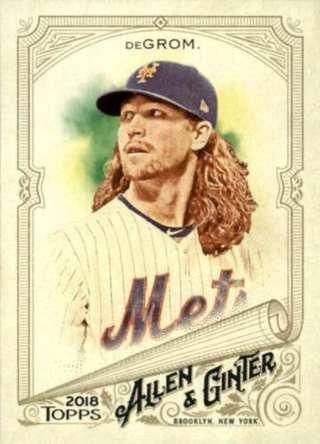 Jacob DeGrom - 2018 Topps Allen & Ginter #105 - Mets star - MINT CARD