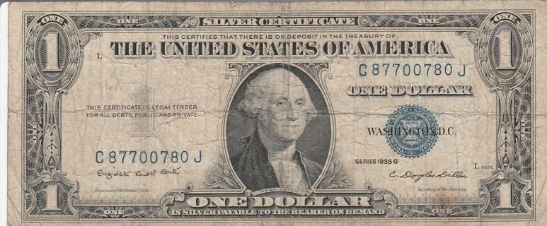 1935-G $1 Silver Certificate