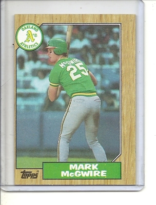 (B-3) 1987 Topps #366: Mark McGwire - Factory Error - Off-Set Cut