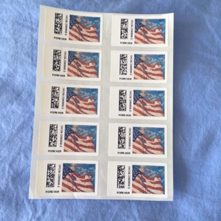 Free Us Flag 10 Forever Stamps Usps Postage From Kiosk Free - United-states-forever-stamps