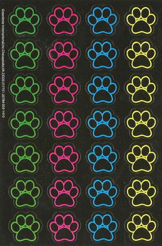 Dog Paw Stickers - New