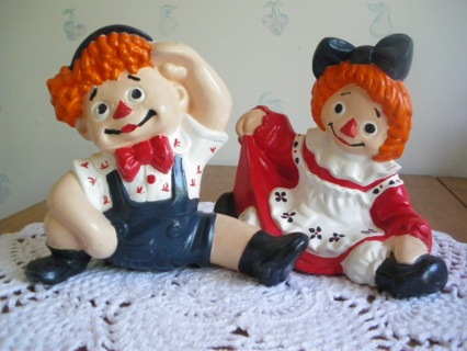 Free Vintage Raggedy Ann And Andy Ceramic Dolls