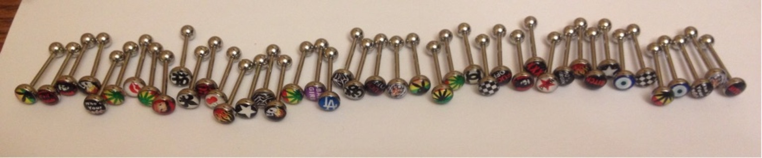 Huge Wholesale Lot of Body Jewelry, Barbells, Tongue Rings, Assorted