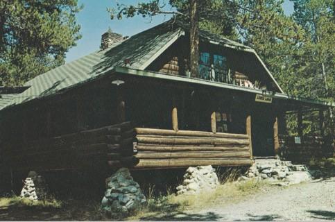 Vintage Unused Postcard: Leeks Lodge, Grand Tetons National Park, WY