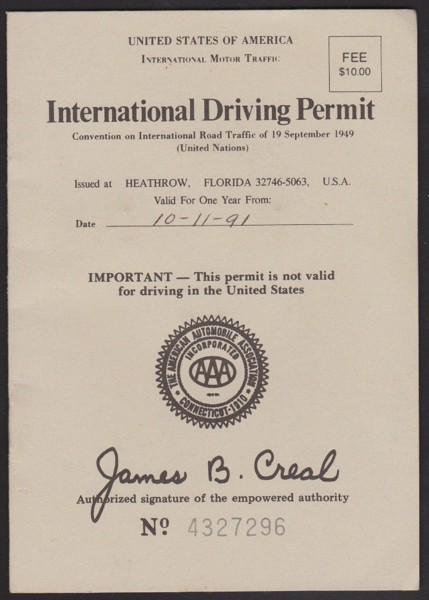 Free: AAA International Driving Permit - Antiques - Listia