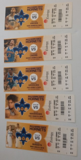 Unused and Expired Hornets Tickets 5 tickets in all