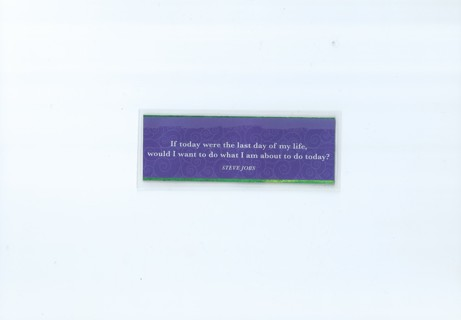 If Today... Double-Sided Laminated Bookmark