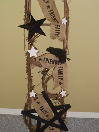Stick Primitive Star And Bear Ladder