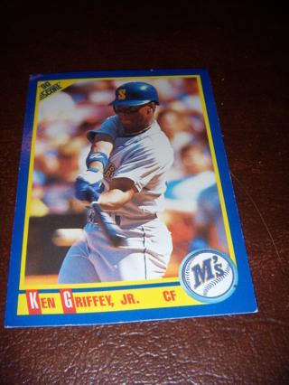 KEN GRIFFEY JR. ROOKIE CARD! 1990 SCORE. FUTURE HALL OF FAMER. EX-NM