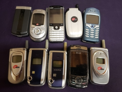 Lot of 10 Used NON-Tested Mobile Cell Phones
